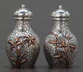 Silver Smalls:Other , A PAIR OF DOMINICK & HAFF SILVER AND MIXED METAL SALT ANDPEPPER SHAKERS . Dominick & Haff, New York, New York, circa1879. ... (Total: 2 Items)