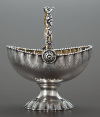 A GALE & SON SILVER AND SILVER GILT BASKET William Gale & Son, New York, New York, 1862 Marks: W. GALE & SON...