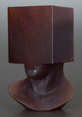 Art Glass:Other , AN AMBER GLASS MODERNIST-STYLE STATUE. Circa 1998. Marks: SOSNO,98. 9-1/2 inches high (24.1 cm). ...