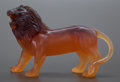Art Glass:Other , A PATE-DE-VERRE GLASS SCULPTURE OF A LION . 20th century. 6 incheshigh x 9 inches long (15.2 x 22.9 cm). ...