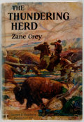 "Books:Literature 1900-up, Zane Grey. The Thundering Herd. Harper and Brothers, 1925.First edition stated with code ""L-Y"" on the copyright..."