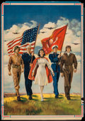 "Movie Posters:War, World War II Propaganda (U.S. Government Printing Office, 1942).Poster (20"" X 28.5"") ""Freedom Forever."" War.. ..."