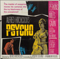 "Movie Posters:Hitchcock, Psycho (Paramount, 1960). Six Sheet (77"" X 79""). Hitchcock.. ..."