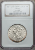 Bust Half Dollars: , 1834 50C Small Date, Small Letters AU58 NGC. O-117. NGC Census:(0/0). PCGS Population (114/165). ...