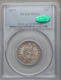 Seated Quarters: , 1877 25C MS64 PCGS. CAC. PCGS Population (67/149). NGC Census:(81/126). Mintage: 10,911,710. Numismedia Wsl. Price for pro...