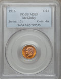 Commemorative Gold: , 1916 G$1 McKinley MS65 PCGS. PCGS Population (980/689). NGC Census:(467/408). Mintage: 9,977. Numismedia Wsl. Price for pr...