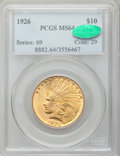 Indian Eagles: , 1926 $10 MS64 PCGS. CAC. PCGS Population (3259/371). NGC Census:(4265/734). Mintage: 1,014,000. Numismedia Wsl. Price for ...