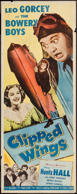 """Clipped Wings (Allied Artists, 1953). Insert (14"""" X 36""""). Comedy"""