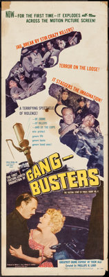 "Gang Busters (Visual Drama, Inc., 1954). Insert (14"" X 36""). Crime"