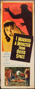 "Movie Posters:Science Fiction, I Married a Monster from Outer Space (Paramount, 1958). Insert (14""X 36""). Science Fiction.. ..."