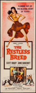 """Movie Posters:Western, The Restless Breed (20th Century Fox, 1957). Insert (14"""" X 36""""). Western.. ..."""