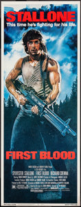 """Movie Posters:Action, First Blood (Orion, 1982). Insert (14"""" X 36""""). Action.. ..."""