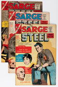 Silver Age (1956-1969):Mystery, Sarge Steel Group (Charlton, 1964-67) Condition: Average VF....(Total: 10 Comic Books)