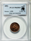 Proof Indian Cents, 1892 1C PR65 Red PCGS. Ex: Eagle Eye Photo Seal. PCGS Population (44/14). NGC Census: (13/14). Mintage: 2,745. Numismedia W...