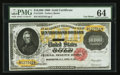 Large Size:Gold Certificates, Fr. 1225h $10,000 1900 Gold Certificate PMG Choice Uncirculated64.. ...