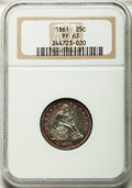 Proof Seated Quarters: , 1861 25C PR63 NGC. NGC Census: (24/44). PCGS Population (36/38).Mintage: 1,000. Numismedia Wsl. Price for problem free NGC...