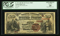 Oxford, NC - $20 1882 Brown Back Fr. 504 The First NB Ch. # (S)5885
