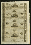 Obsoletes By State:Maryland, Baltimore, MD- Farmers and Merchants Bank $5-$5-$10-$10 G20-G20-G32-G32 X1 Shank 5.64.13P-13P-22P-22P Uncut Sheet Three Exam... (Total: 3 sheets)