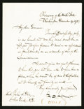 Miscellaneous:Other, F. E. Spinner Letter Dated Dec. 19, 1872.. ... (Total: 2 items)
