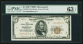 Low Serial Number I00000029A Fr. 1850-I $5 1929 Federal Reserve Bank Note. PMG Choice Uncirculated 63 EPQ