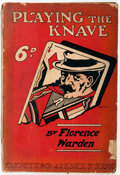 Books:Mystery & Detective Fiction, [Dime Novel, Mystery]. Florence Warden. Playing the Knave.London: Everett, [ca. 1910]. 128 pages with text in two c...