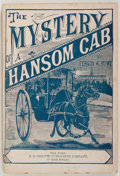 Books:Mystery & Detective Fiction, [Dime Novel, Mystery]. Fergus W. Hume. The Mystery of a HansomCab. J. S. Ogilvie, [ca. 1900]. 238 pages with 18 pag...