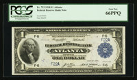Low Serial Number F22A Fr. 723 $1 1918 Federal Reserve Bank Note PCGS Gem New 66PPQ