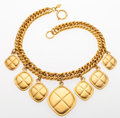 Luxury Accessories:Accessories, Chanel Gold Chain Necklace with Hanging Pendants. ...