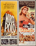 "Movie Posters:Adventure, Marco Polo & Others Lot (American International, 1962). Inserts(7) (14"" X 36""). Adventure.. ... (Total: 7 Items)"