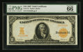 Large Size:Gold Certificates, Fr. 1171 $10 1907 Gold Certificate PMG Gem Uncirculated 66 EPQ.. ...