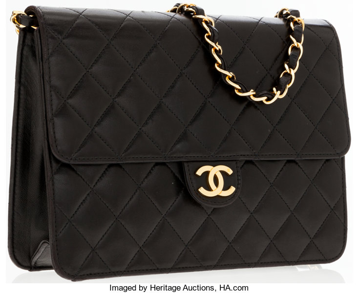 65e52414d9cc Chanel Small Black Quilted Leather Shoulder Bag with Gold