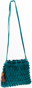 Luxury Accessories:Accessories, Chanel Sea Green Leather Shoulder Bag . ...