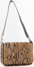 Luxury Accessories:Accessories, Prada Natural Snakeskin Shoulder Bag . ...