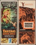 "Movie Posters:Adventure, Tarzan's Hidden Jungle & Others Lot (RKO, 1955). Inserts (3)(14"" X 36""). Adventure.. ... (Total: 3 Items)"