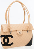 Luxury Accessories:Bags, Chanel Beige Quilted Lambskin Leather Cambon Large Flap Bag withLarge CC Logo. ...