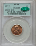 Lincoln Cents: , 1972 1C Doubled Die Obverse MS65 Red PCGS. CAC. PCGS Population(1262/534). NGC Census: (585/183). Mintage: 75,000. Numisme...