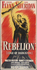 "Movie Posters:War, Edge of Darkness (Warner Brothers, 1943). Spanish Language ThreeSheet (41.5"" X 79""). War.. ..."
