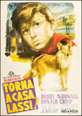 "Movie Posters:Adventure, Lassie Come Home (MGM, 1948). Italian 4 - Foglio (55"" X 78"").Adventure.. ..."