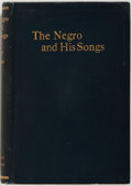 Books:Americana & American History, Howard W. Odum and Guy B. Johnson. The Negro and His Songs. AStudy of Typical Negro Songs in the South. Univers...
