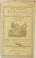 Books:Americana & American History, [American Almanacs] The People's Almanac for the Use of Farmers,Merchants, Mechanics, and Families 1856. Wm. S....