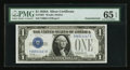 Small Size:Silver Certificates, Fr. 1601 $1 1928A Silver Certificate. Y-B Experimental. PMG Gem Uncirculated 65 EPQ.. ...