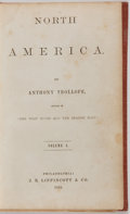 Books:Americana & American History, Anthony Trollope. North America, Two Volumes in One. J. B. Lippincott & Company, 1862. First authorized American...