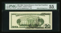 Fr. 2084-L $20 1996 Federal Reserve Note. PMG About Uncirculated 55