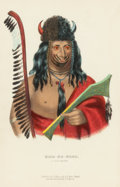 Fine Art - Work on Paper:Print, JAMES HALL (American, 1793-1868) and THOMAS MCKENNEY (American, 1785-1859). A Winnebago Chief; A Fox Brave; Chief of t... (Total: 3 Items)