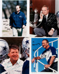 """Autographs:Celebrities, [Dallas Cowboys]. Lot of Four Photographs Signed by the DallasCowboys Owner and Coaches. 8"""" x 10"""" glossy photographs sign..."""