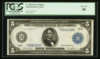 Fr. 885 $5 1914 Federal Reserve Note PCGS Very Fine 30