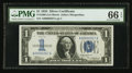 Small Size:Silver Certificates, Low Serial Number A00000267A Fr. 1606 $1 1934 Silver Certificate. PMG Gem Uncirculated 66 EPQ.. ...