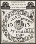 Baseball Collectibles:Photos, 1913 New York Giants Baseball Advertisement Supplement....