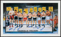 Boxing Collectibles:Autographs, Legends of the Ring Multi Signed Print....
