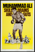Boxing Collectibles:Memorabilia, 1975 Legends of the Ring: Muhammad Ali - Skill, Brains and Guts Movie Poster....